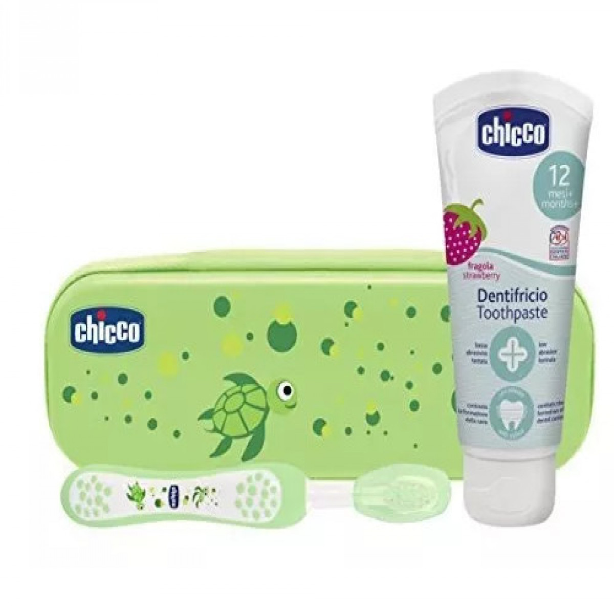 Set de higiene bucal  Chicco verde