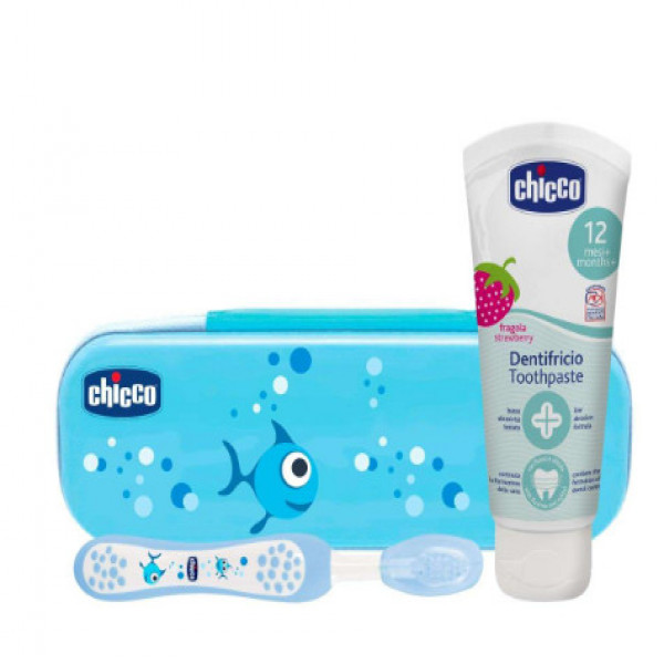 Set de higiene bucal  Chicco Celeste