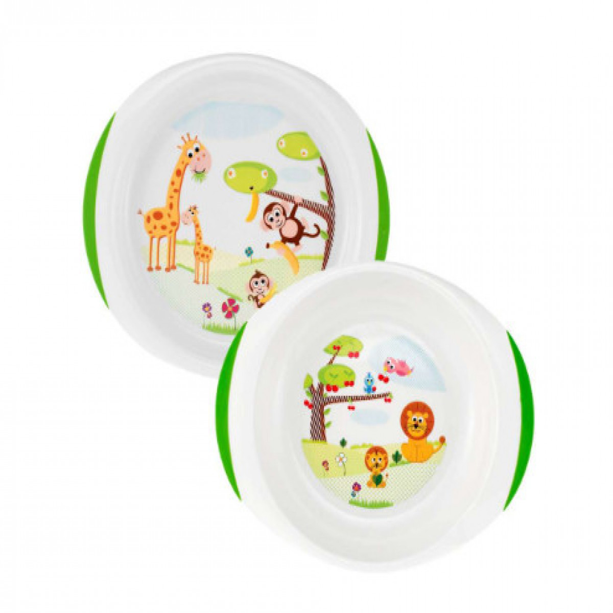 Set plato playo y Hondo Chicco blanco