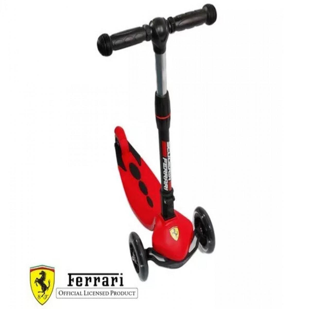 Monopatin 3 ruedas Ferrari rojo