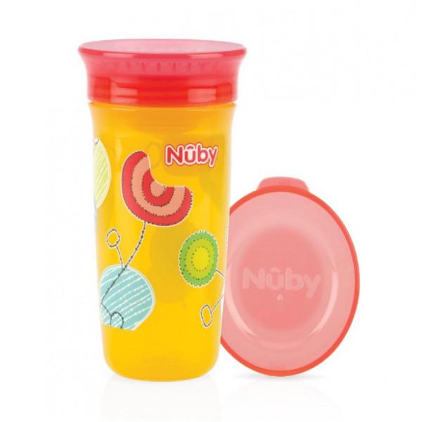 Vaso wonder  360  Nuby Rojo y amarillo