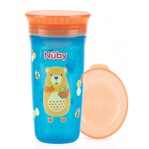 Vaso wonder  360  Nuby Naranja y azul