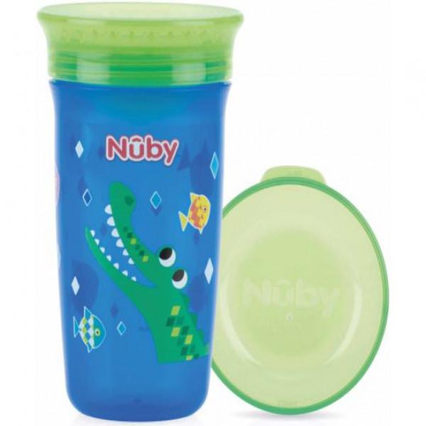 Vaso wonder  360  Nuby Verde y azul