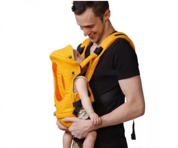 Mochila porta bebé 4 en 1 Priori naranja