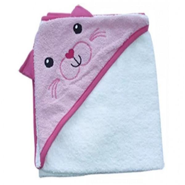 Toallón con capucha  Ratón rosa