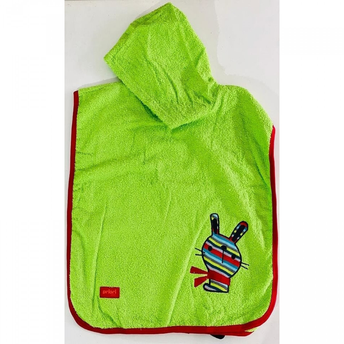 Poncho de toalla bordado   verde