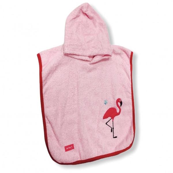 Poncho de toalla bordado   Rosa