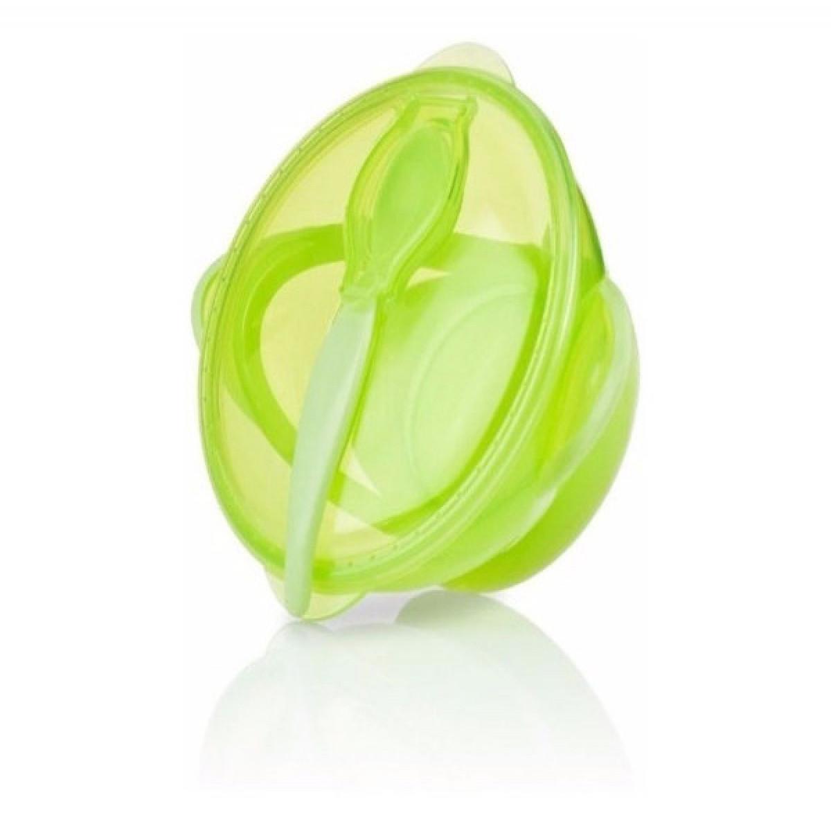 Plato térmico con cuchara Nuby verde