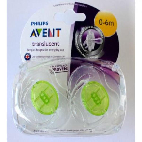 Chupetes classic 0-6 meses Avent verde