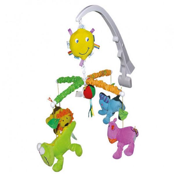 Cunero móvil a cuerda Biba Toys Animales de la selva