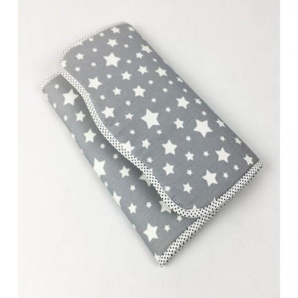 Cambiador de bolso  Estrellas gris claro