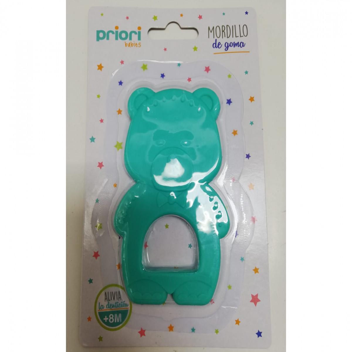 Mordillo silicona oso   verde