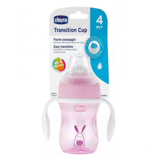 Vaso transition Cup 4m+ Chicco Rosa