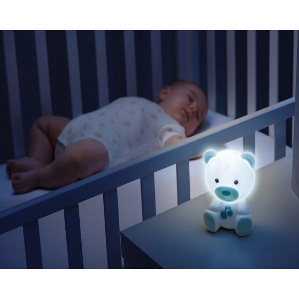 Osito Luz de Noche Chicco Azul