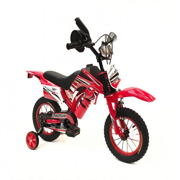 Bicicleta estilo Moto Lamborghini Rojo
