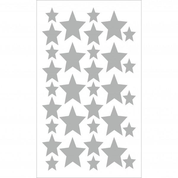 Vinilo estrella decorativo Pequeñitos Baby Shop Gris