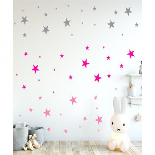 Vinilo estrella decorativo Pequeñitos Baby Shop Rosa