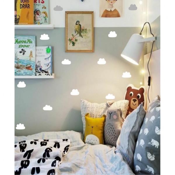 Vinilo nube decorativo Pequeñitos Baby Shop Blanca
