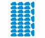 Vinilo nube decorativo Pequeñitos Baby Shop azul