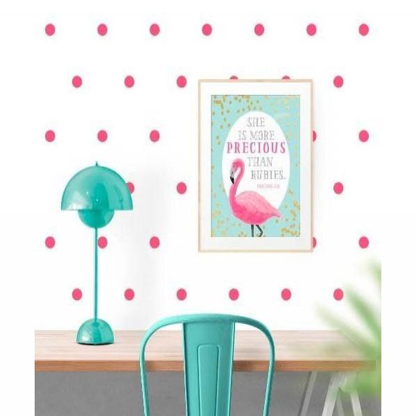 Vinilo círculo decorativo Pequeñitos Baby Shop Rosa