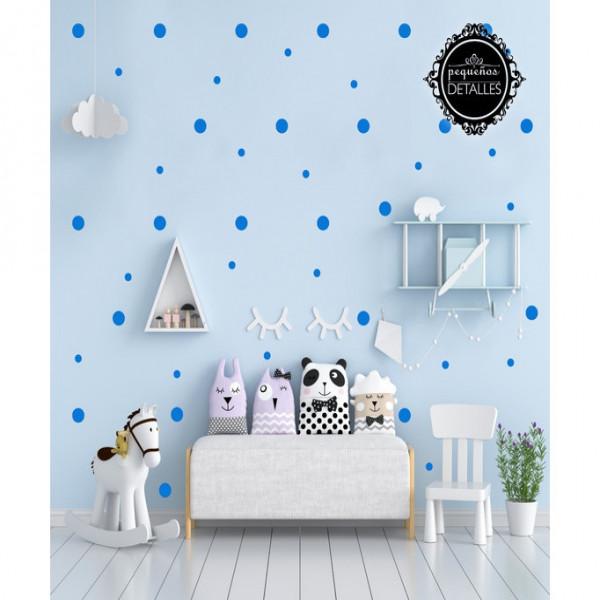 Vinilo círculo decorativo Pequeñitos Baby Shop Azul
