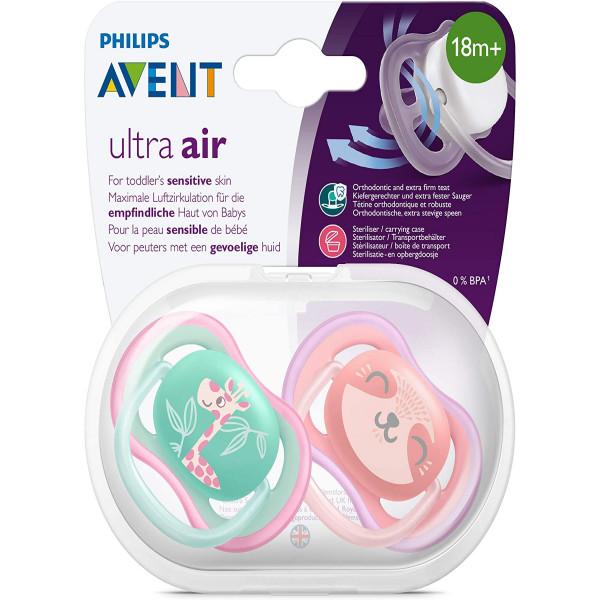 Chupete Ultra Air 18m+ Avent Rosa y verde