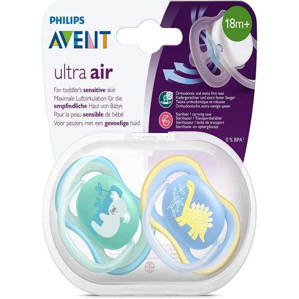 Chupete Ultra Air 18m+ Avent Azul y verde