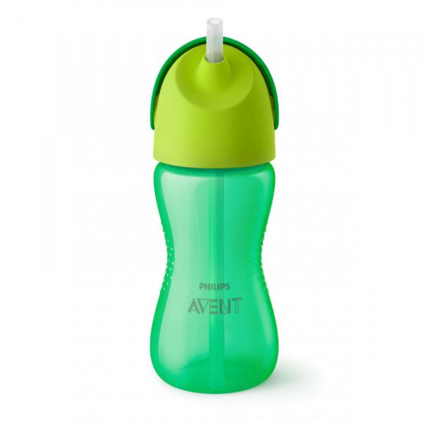 Vasos Straw Cup 300ml 12m+ Avent Verde