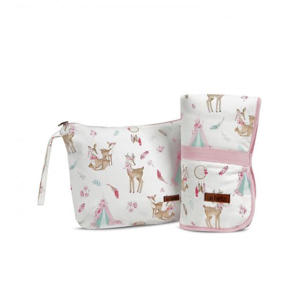 Maxi Cambiador y Neceser  Bambi rosa