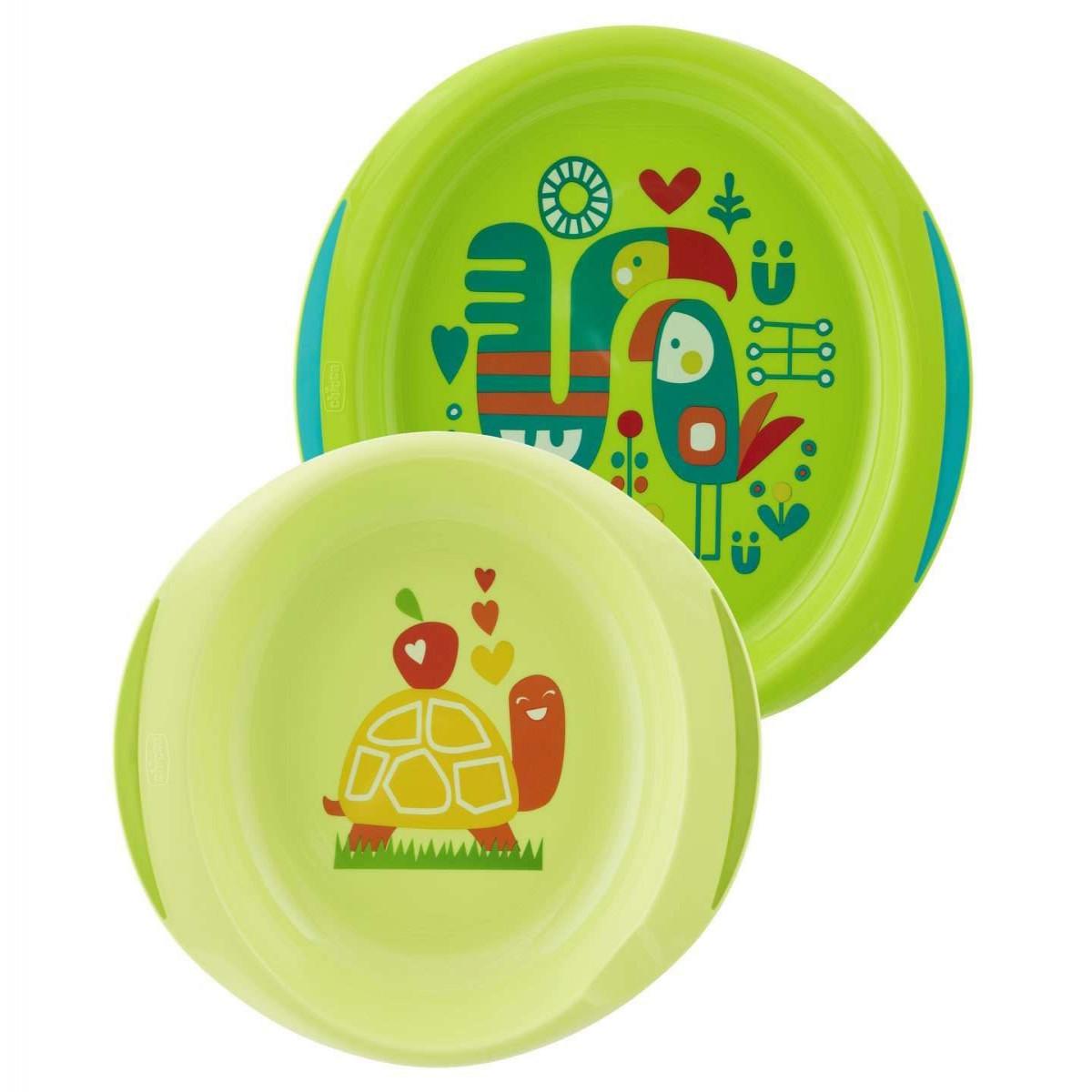 Set de platos 12m+ Chicco verde