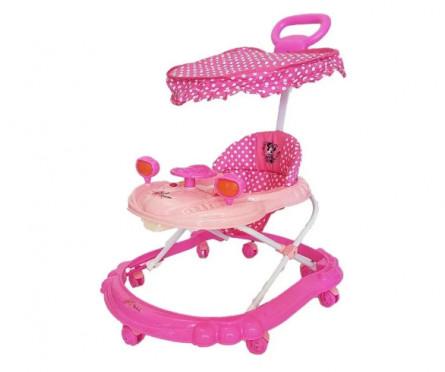 Andador  con manija  Disney Fucsia y rosa Minnie