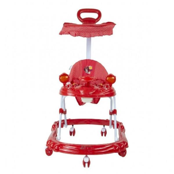 Andador  con manija  Disney Rojo Minnie