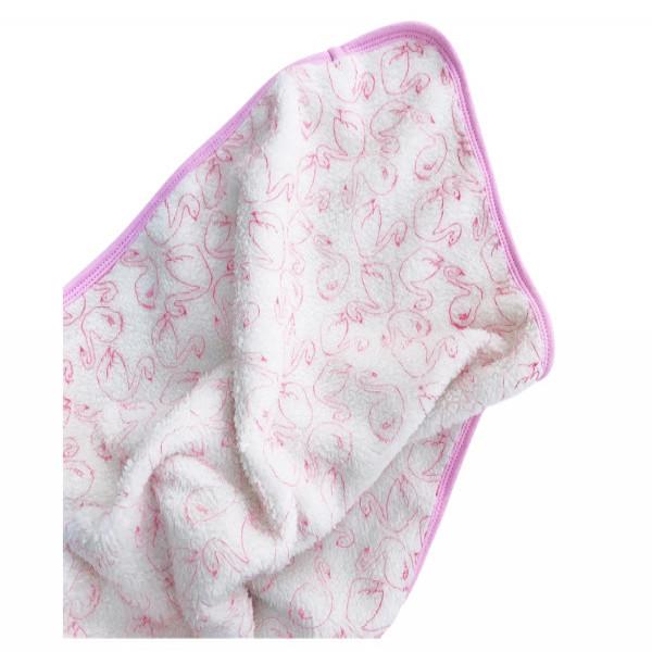 MANTA CORDERITO  Cisne rosa