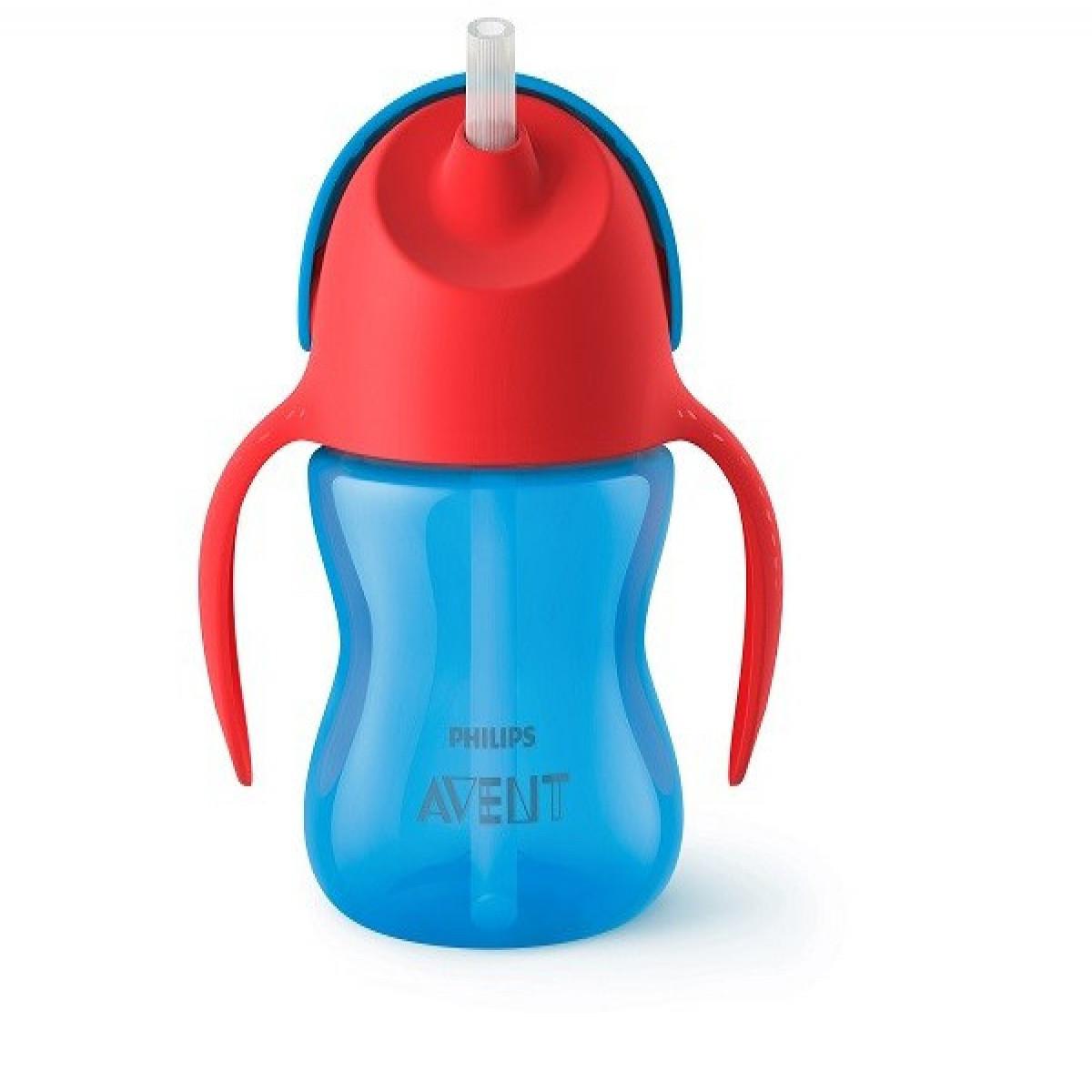 Vaso Straw Cup 200ml 9m+ Avent azul