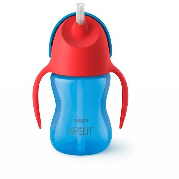 Vaso Straw Cup 200ml 9m+ Avent Azul y Rojo