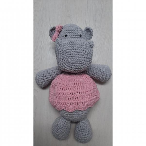 Muñeco  hipopótamos  Rosa