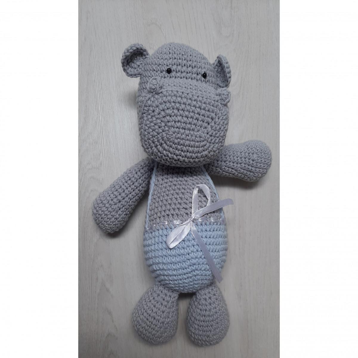 Muñeco  hipopótamos  celeste