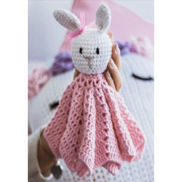 MANTA DE APEGO   conejo rosa