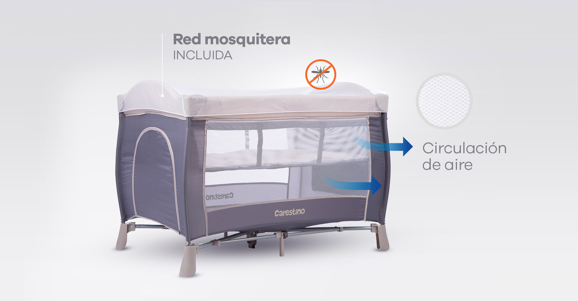 Red mosquitera flat y bolsillo para juguetes