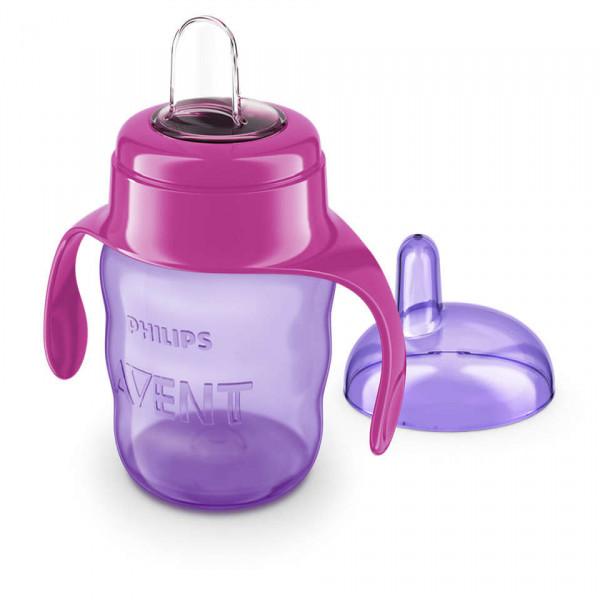 Vaso Easy Sip Cup 200ml Avent Lila y fucsia