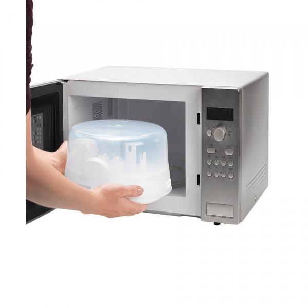 Esterilizador microondas Tommee Tippee Blanco y Transparente