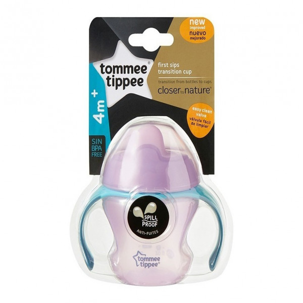 Vaso First Sips Transition Tommee Tippee Violeta
