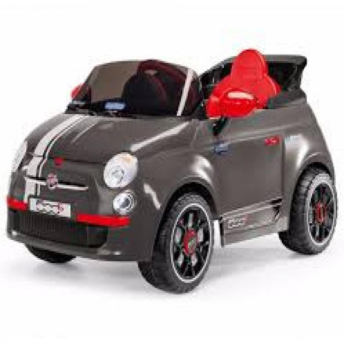 Auto a batería Fiat 500 Peg Perego gris
