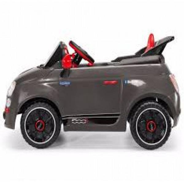 Auto a batería Fiat 500 Peg Perego Gris oscuro