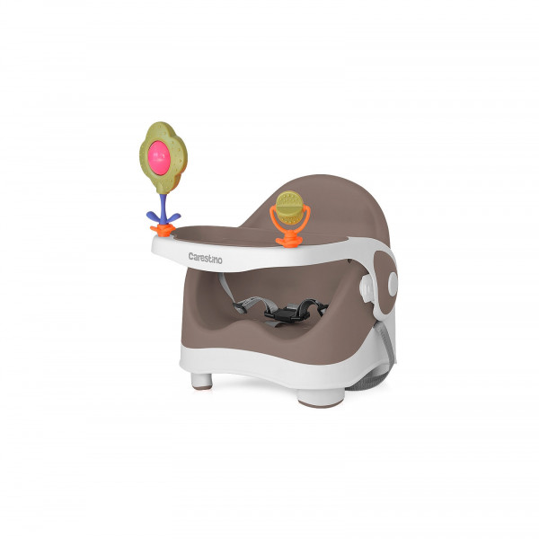 Silla de Comer Booster Carestino Chocolate