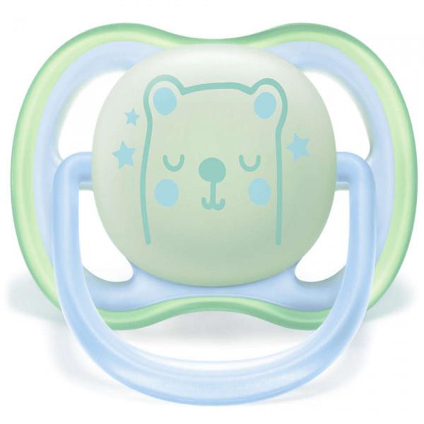 Chupete Ultra Air nocturno 6-18m  Avent Azul y verde