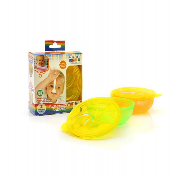 Bowls para snacks Baby Innovation Amarillo Translucido