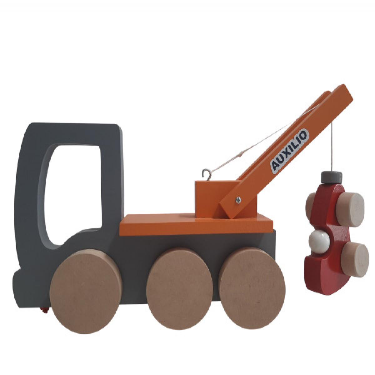 Camión de auxilio + auto  naranja