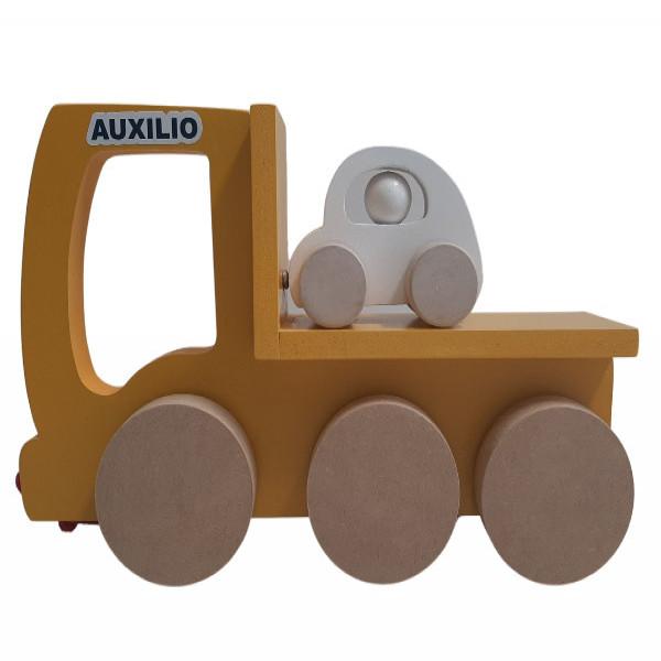 Camión de auxilio + auto  Amarillo