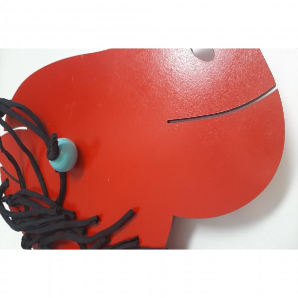 Caballito con rueditas  Rojo